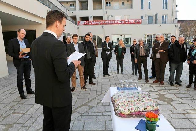 Die Außenanlage der Neuen Ortsmitte eingeweiht