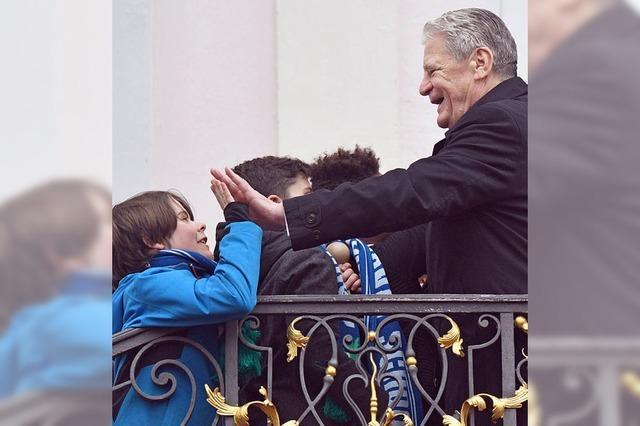 Nach fünf Jahren als Bundespräsident wird Joachim Gauck verabschiedet