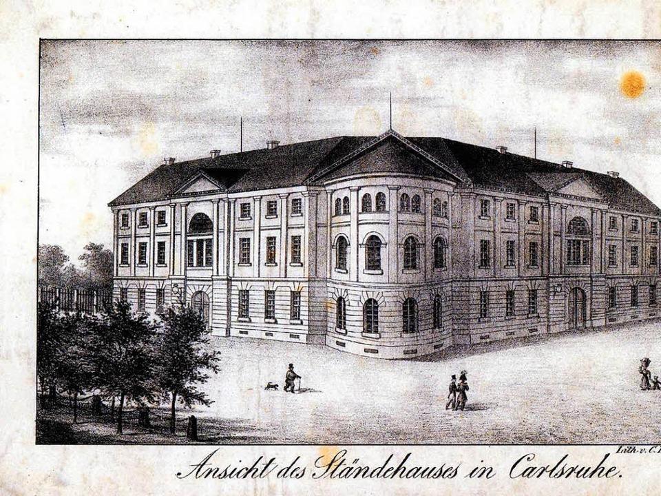 Das Ständehaus in Karlsruhe, wo Christian Daniel Nussbaum als Abgeordneter saß.  | Foto: Privat