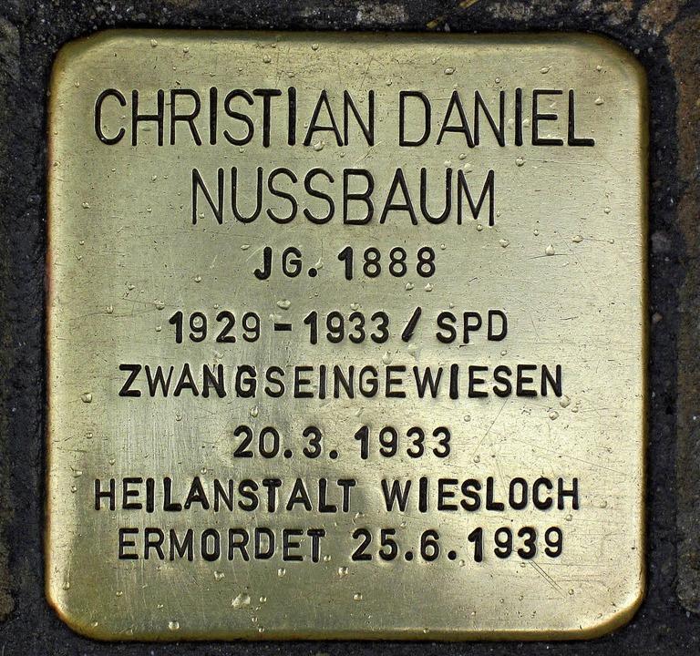 Erinnerung an den SPD-Landtagsabgeordneten   | Foto: Marlis Meckel