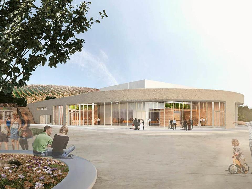 So könnte die Breisacher Stadt- und Sporthalle einmal aussehen.  | Foto:  Roller Architekten