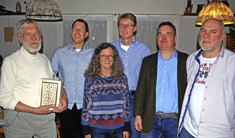 Der wiedergewählte NABU-Vorstand: (von...U-Bezirk Südbaden und Armin Kreutner.     Foto: Thomas Loisl Mink