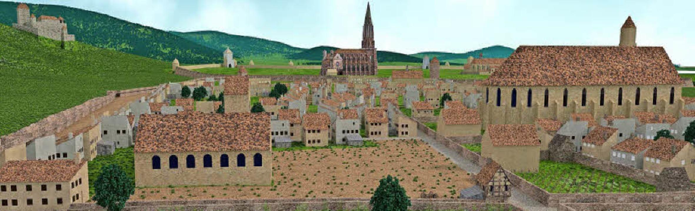 Neuburg war schon im 11. Jahrhundert b...gt eine Rekonstruktion des Stadtteils.  | Foto: Hans-Jürgen van Akkeren