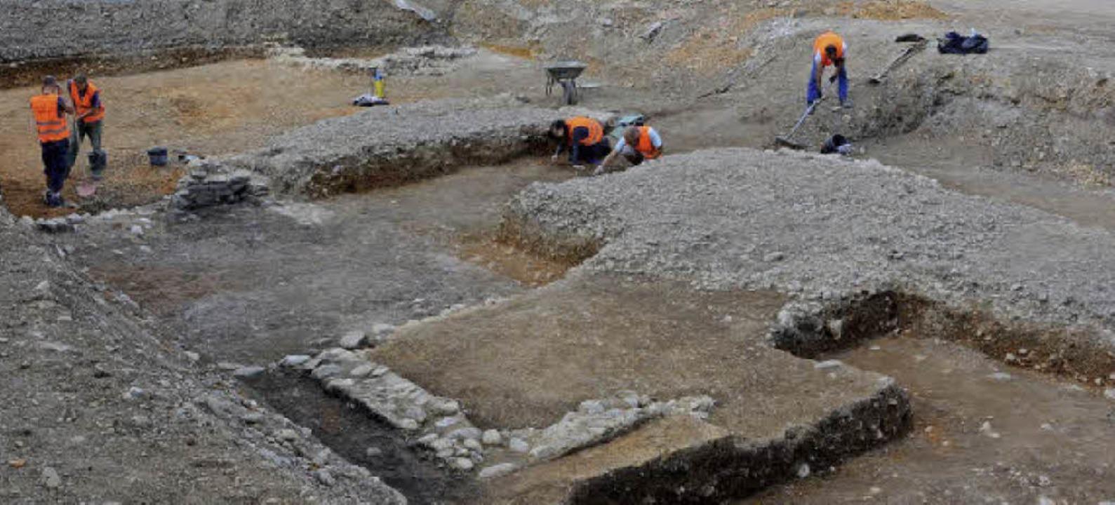 Außergewöhnlich große archäologische Grabung an der Deutschordensstraße   | Foto: Landesamt für Denkmalpflege
