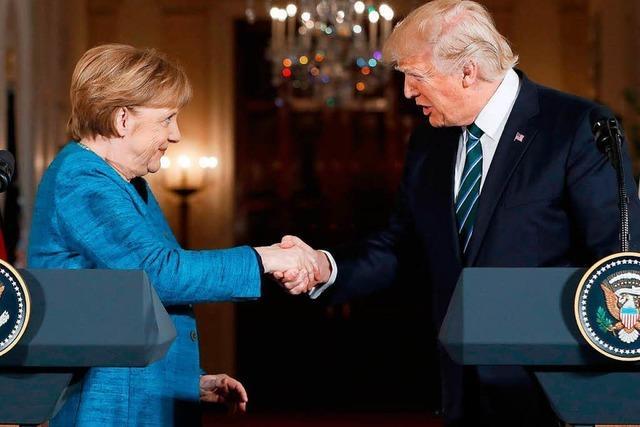 Merkel und Trump bemühen sich um Gemeinsamkeiten