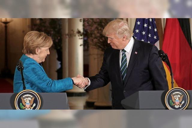 Mühsame Annäherung zwischen Merkel und Trump