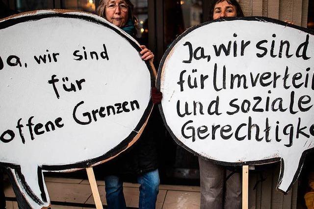 Friedlicher Protest gegen die Politik der G20 in Baden-Baden