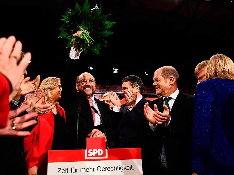 Martin Schulz erzielte das beste Ergebnis eines SPD-Chefs in der Nachkriegszeit  | Foto: AFP