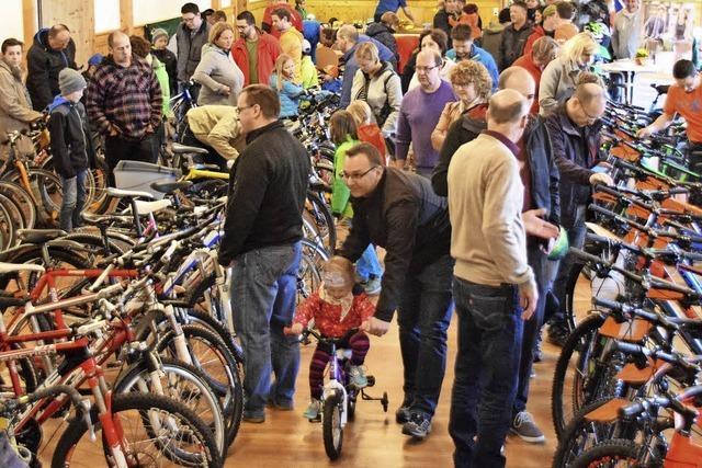 Andrang beim Fahrradmarkt