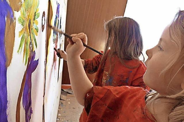 Kinderkunst zu sehen