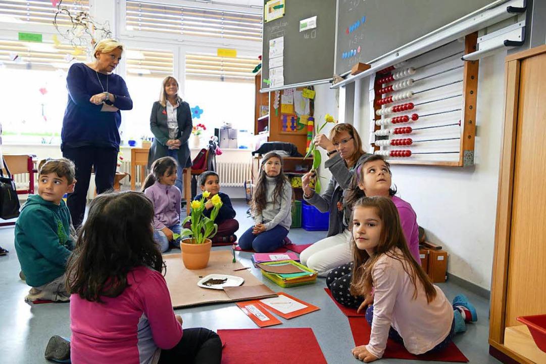 Aufgeschlossene und offene Schüler erl... bei ihrem Besuch in der Goetheschule.  | Foto: Ingrid Böhm-Jacob