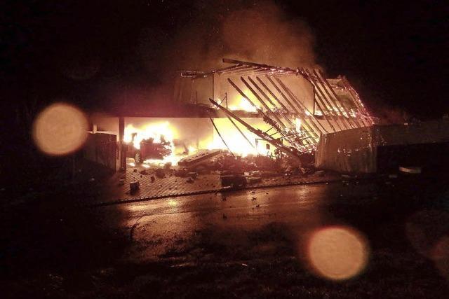 Zwei Tote bei Brand im Fricktal in Gansingen