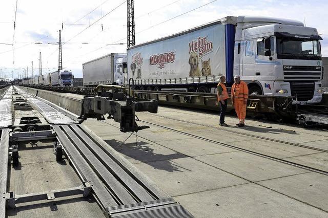 Nach zwei Jahren ist das neue Lkw-Verladeterminal fertig