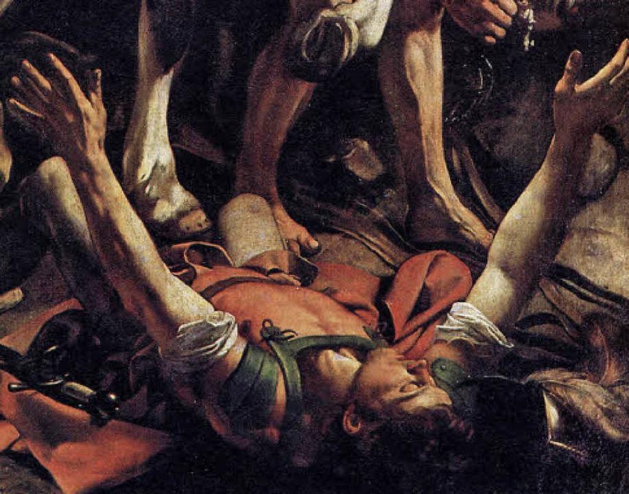 "Dramatisch: Caravaggios ""Bekehrung des Saulus"", Ausschnitt (1600/01)    Foto: Repro: BZ"
