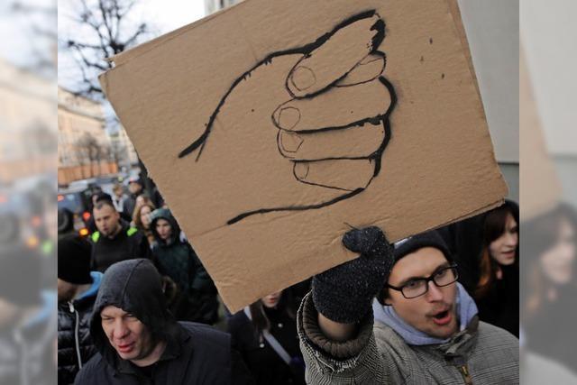 Arbeitslose demonstrieren gegen