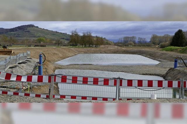 Bau des Versickerungsbeckens verzögert sich