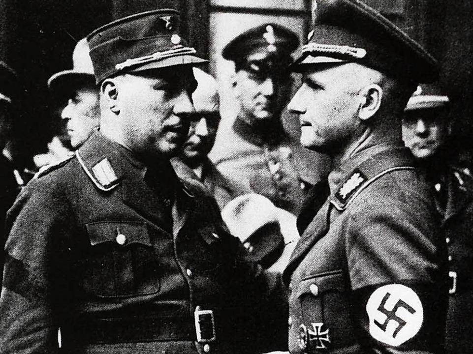 Franz Kerber (links) mit Gauleiter Robert Wagner  | Foto: Repro: Ingo Schneider