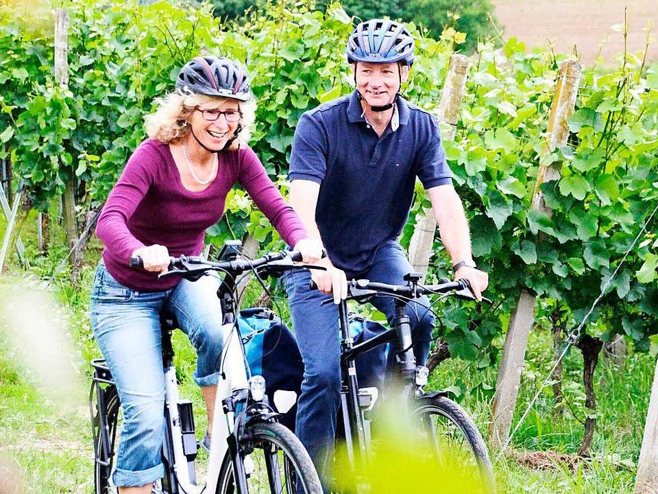 Mit dem E-Bike in die Weinberge    Foto: Ekone