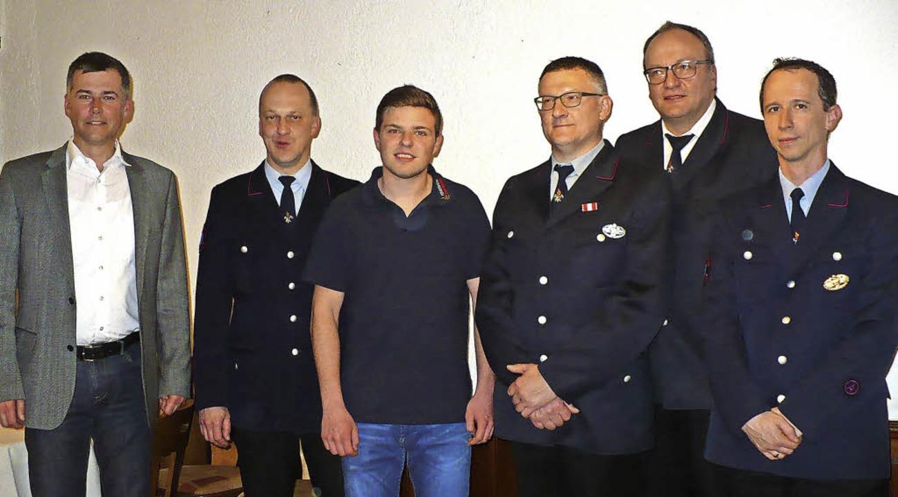 Die neuen Amtsträger der Feuerwehrabte...eller (stellvertretender Kommandant).   | Foto: Gertrud Rittner