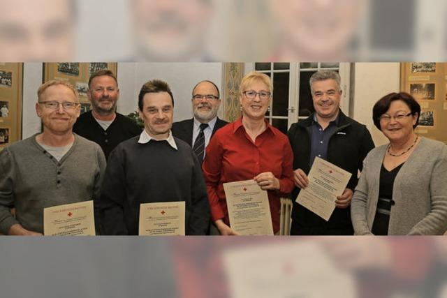 Langjährige Blutspender in Münchweier geehrt