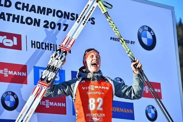 Zwei Tage nach dem letzten Biathlon-Weltcup sitzt Sprintweltmeister Benedikt Doll wieder in der Hochschule