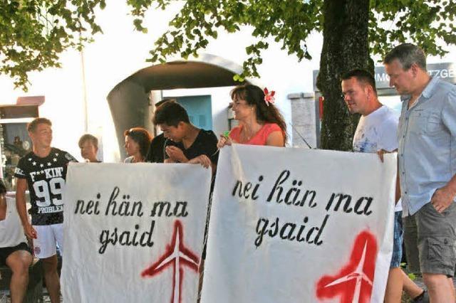 Windkraft-Protest kostet 700 Euro