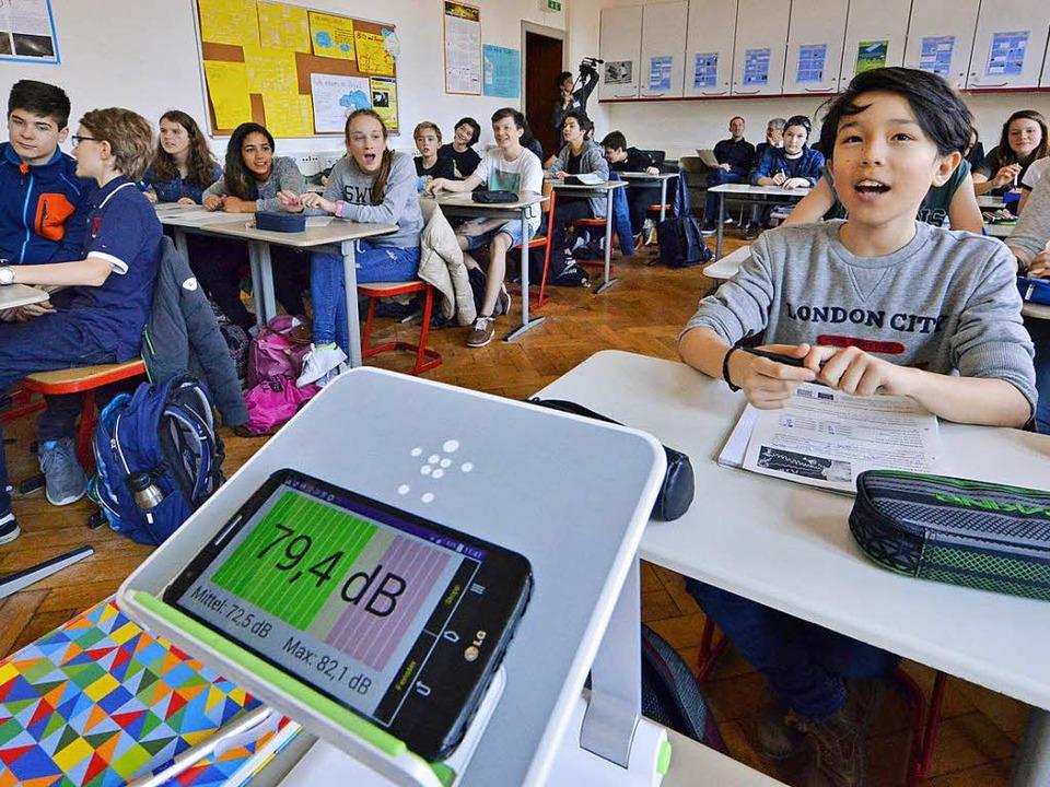 Die App als Dezibel-Messgerät  | Foto: Michael Bamberger