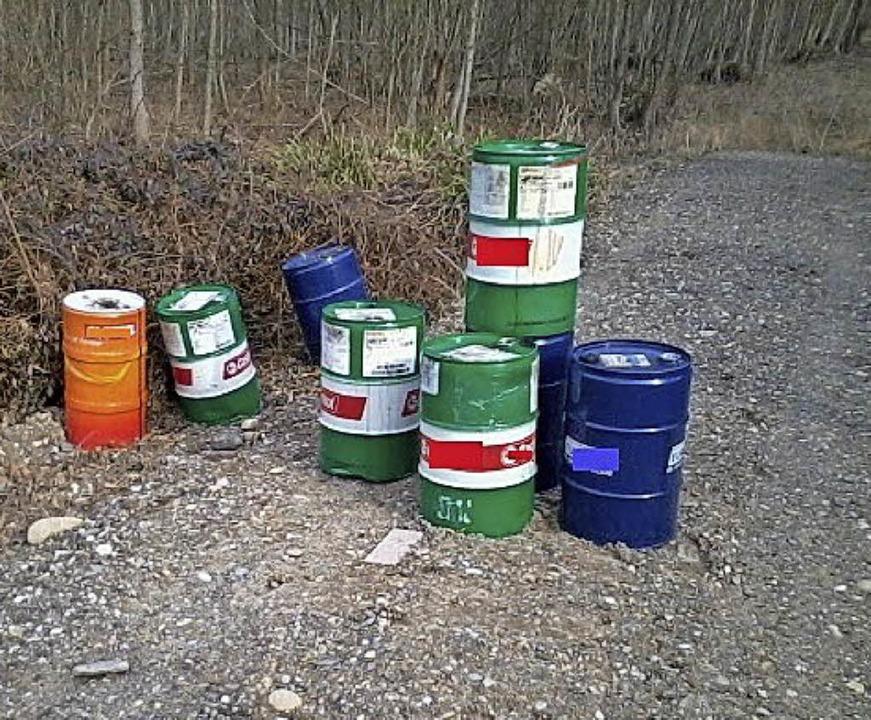 Die  Ölfässer   | Foto: Polizei