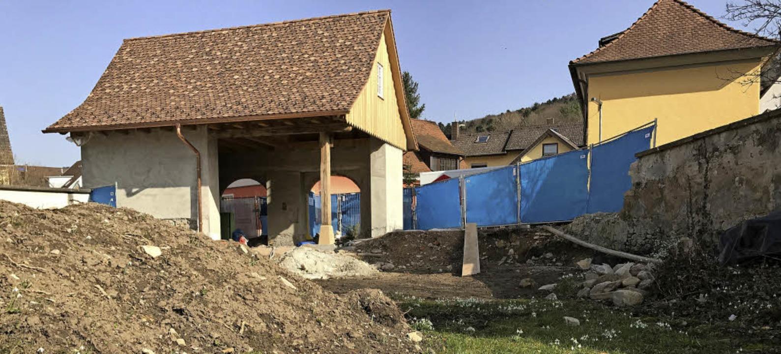 Bollschweils neue Ortsmitte soll grüner werden.     Foto: Gabriele Hennicke