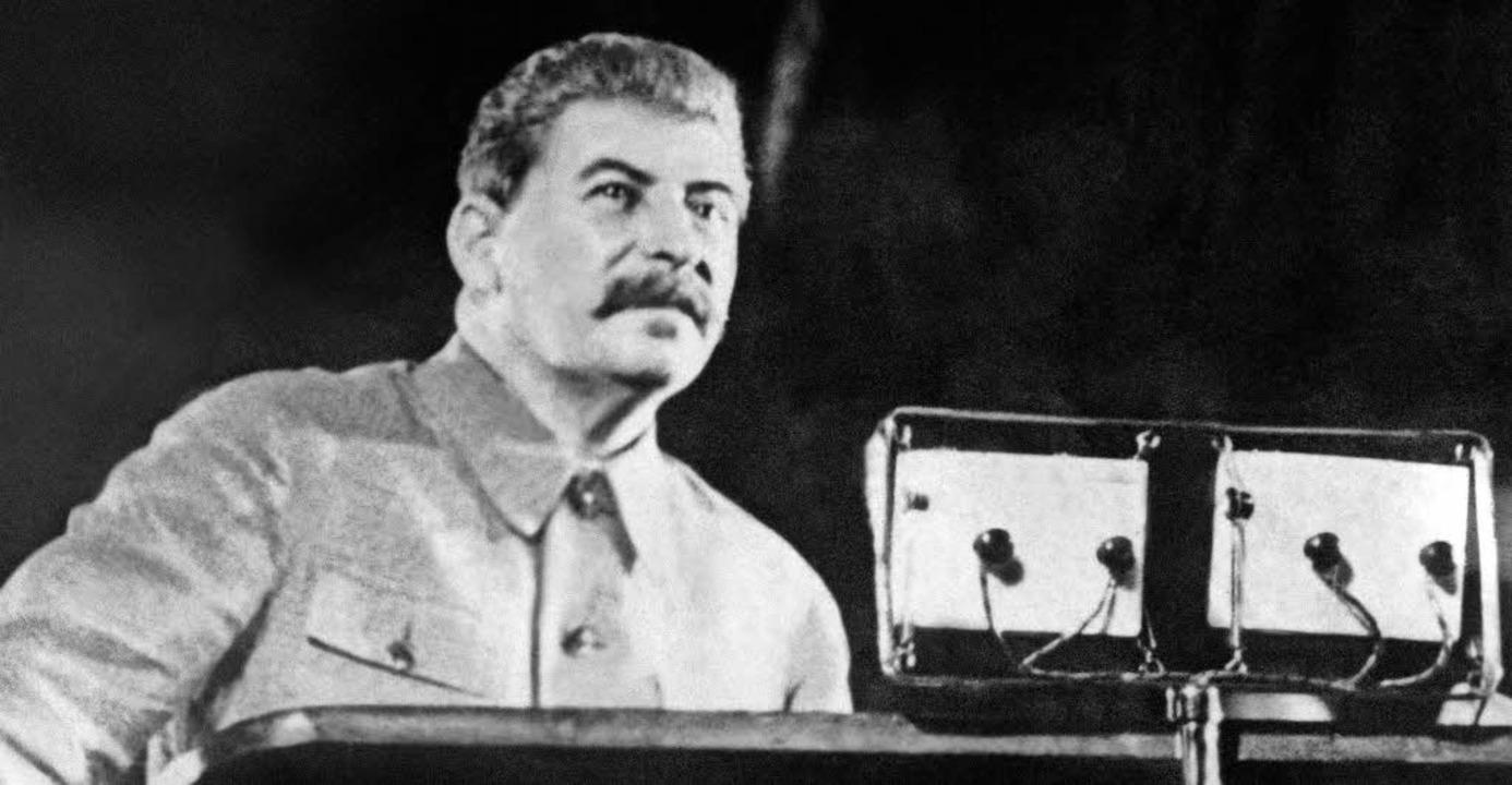 Der Diktator:Josef Stalin  | Foto: afp