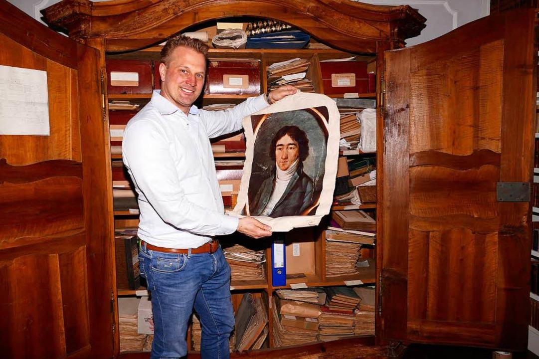 Johannes von Gleichenstein bewahrt ein...roßvaters Ignaz von Gleichenstein auf.    Foto: Gerold Zink