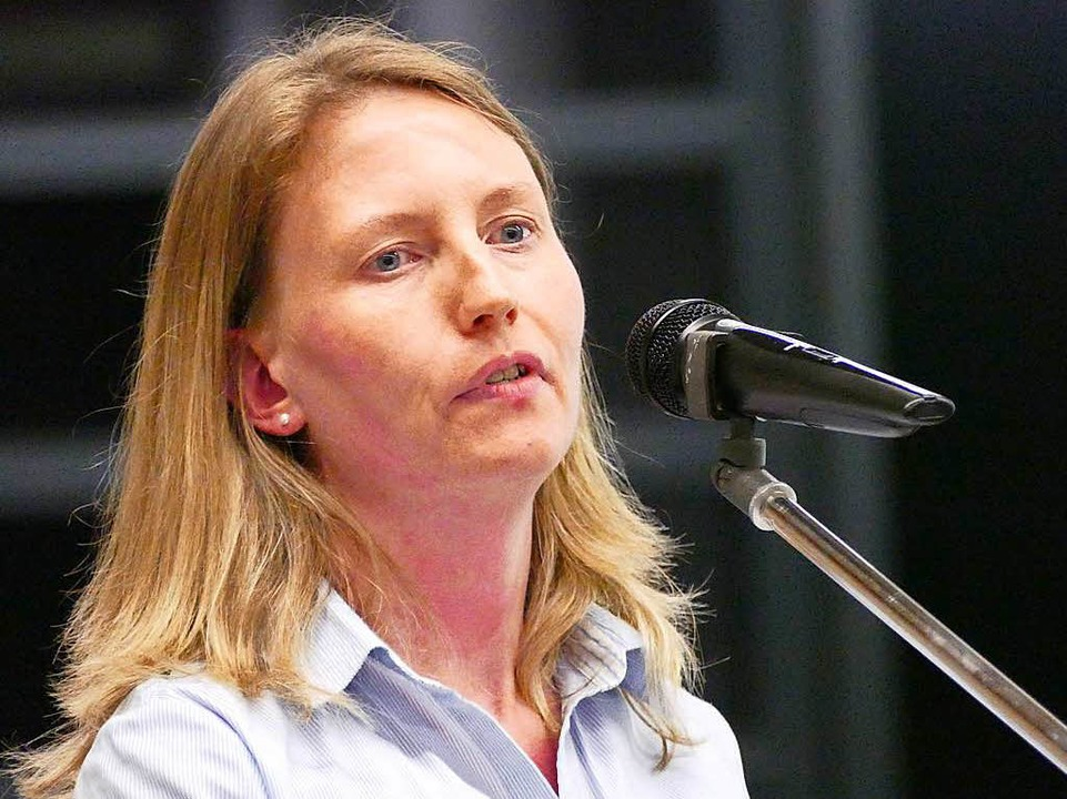 Die Flüchtlingsbeauftragte Stephanie Glockner  | Foto: Hans-Peter Müller