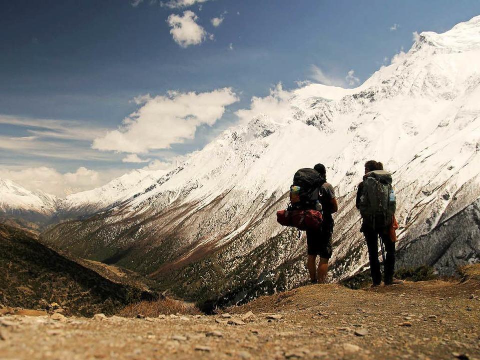 Unterwegs im Himalaya, Nepal, im Mai 2014.  | Foto: Gwen Weisser