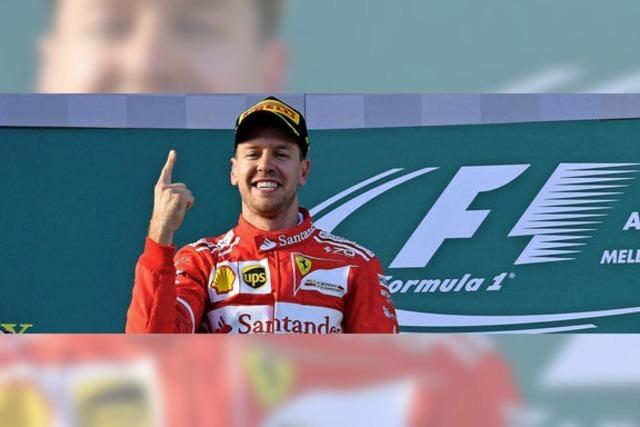 Vettel gewinnt in seinem Ferrari den Saisonauftakt in Melbourne