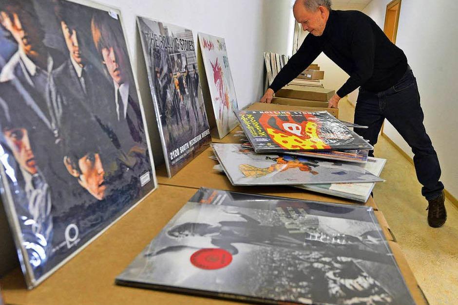 15000 Tonträger umfasst die Sammlung von Reinhold Karpp. (Foto: Michael Bamberger)