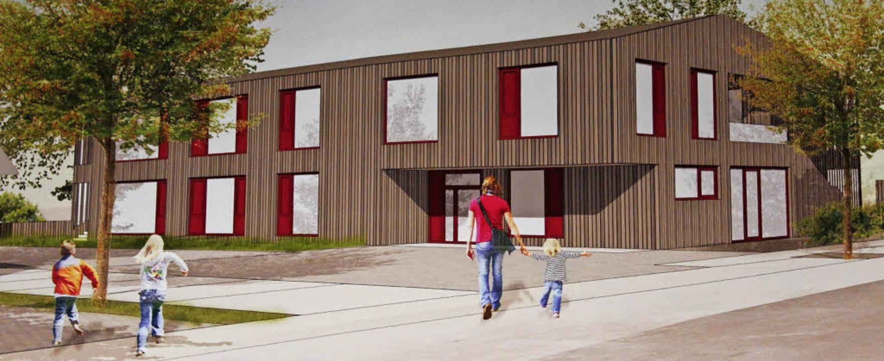 Der aktuelle Entwurf für einen Kinderg...ottenheimer  Gemeinderat vorgestellt.   | Foto: Repro: Mario Schöneberg