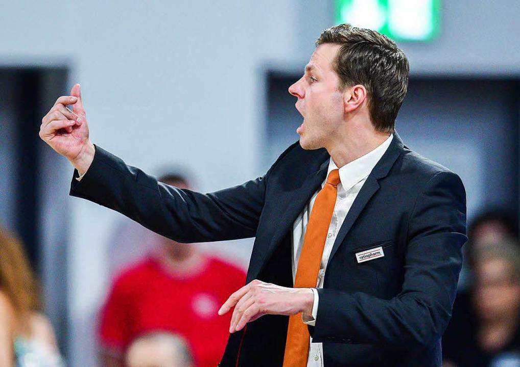 Ulms Trainer Thorsten Leibenath.  | Foto: dpa