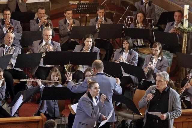 Musikverein Kürzell präsentierte in der Kirche Stücke von Edvard Grieg bis David Bowie