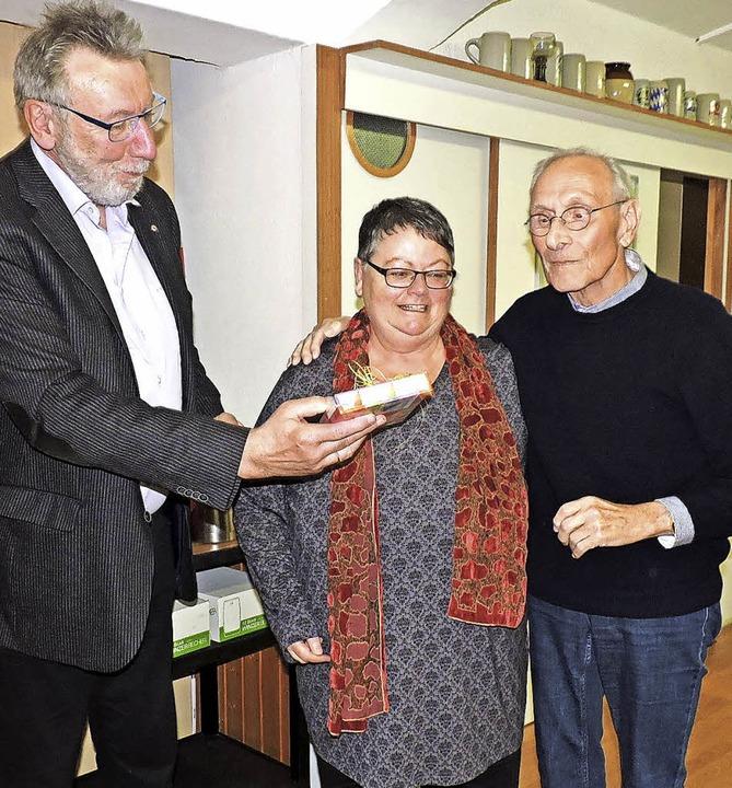 Verabschiedungen bei der AWO: Klaus La...Zähringer und Werner Gehrke (v.links).  | Foto: Sylvia Sredniawa