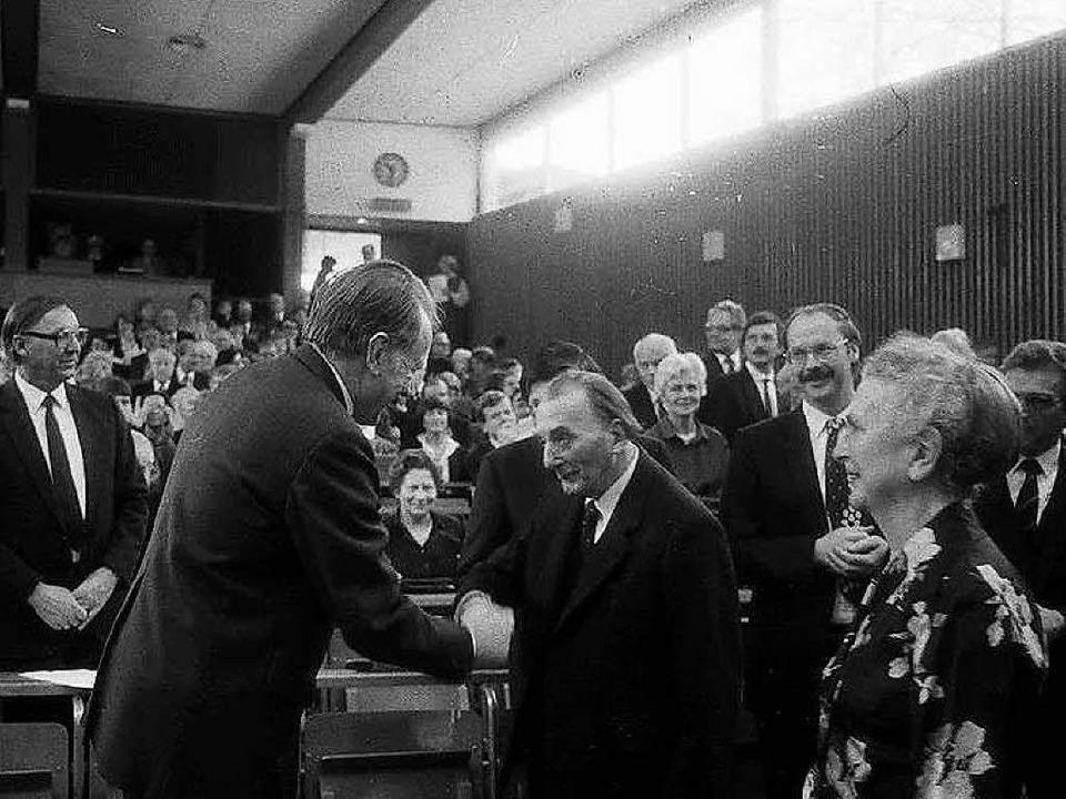 Franz Büchner  beim Festakt zu seinem 90. Geburtstag im Jahr 1985   | Foto: marlis Decker/Landesarchiv BW