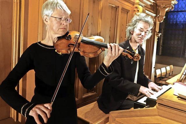 Violine und Orgel sind selten zu hören