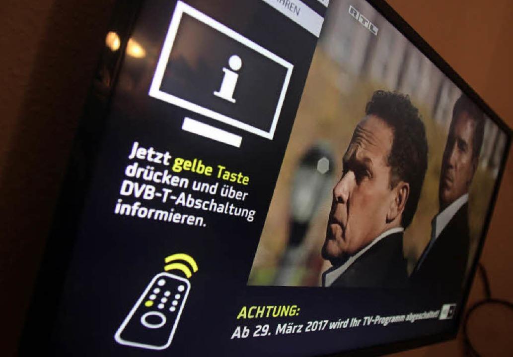 Veränderungen beim Fernsehempfang in D... sich auf Zaungäste in Frankreich aus.  | Foto: dpa