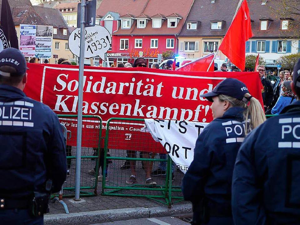 In Breisach hat eine Anti-AfD-Demo stattgefunden.  | Foto: Patrick Kerber