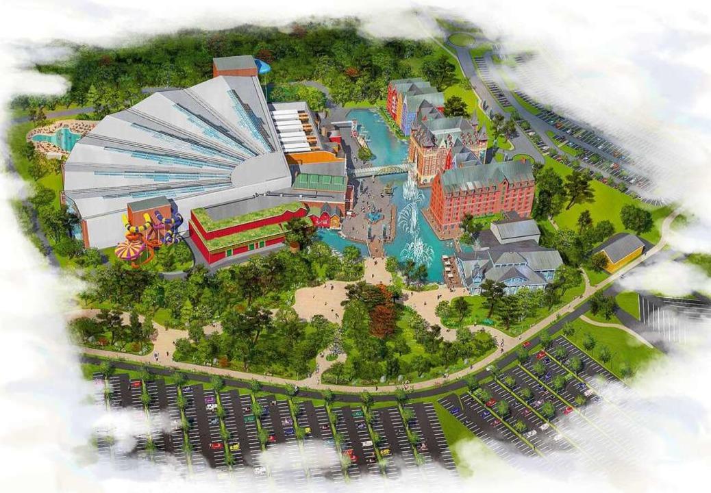 So soll der Wasserpark einmal aussehen...rtige Halle mit den Wasserattraktionen  | Foto: Europa-Park