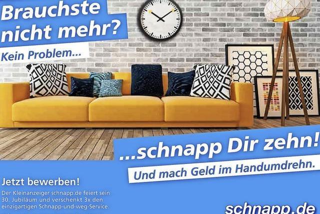 30 Jahre schnapp.de: Zehn Anzeigen geschenkt