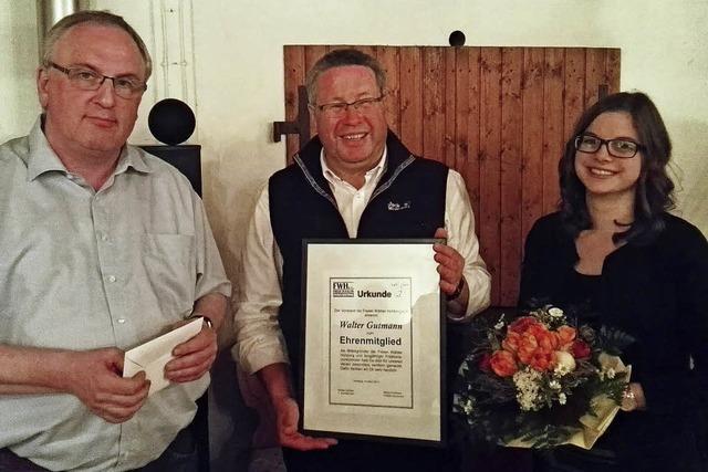 Walter Gutmann wurde zum Ehrenmitglied ernannt