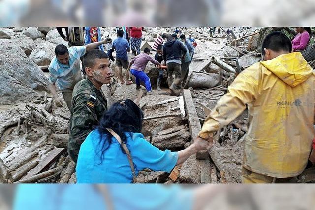 Die Stadt Mocoa versinkt nach Erdrutschen im Schlamm