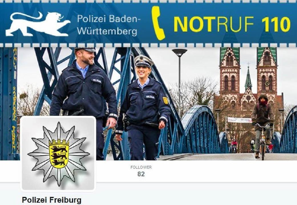 So präsentiert sich die Freiburger Polizei bei Twitter.    Foto: Screenshot BZ
