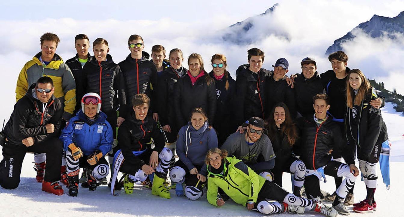 Hoch hinaus mussten die alpinen Rennlä... noch g'führiges Weiß zu finden.    Foto: wohlschlegel