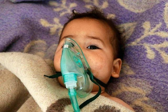 Giftgasattacke tötet 58 Menschen in Syrien